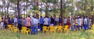 Alemere residents gather to elect members to the community land management committee.